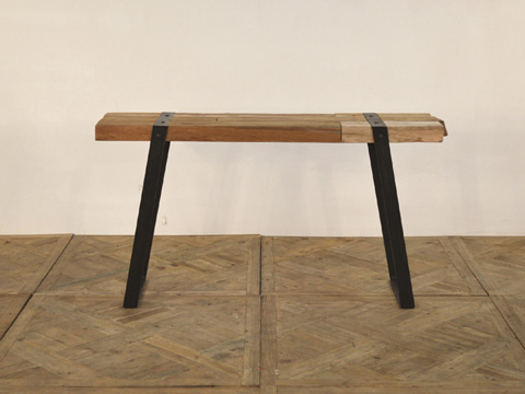 GJ Styles - Reclaimed Teak and Iron Console Table - DB01