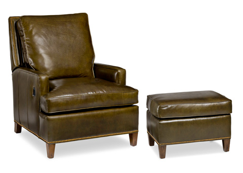 Hancock and Moore - Arrington Tilt Back Chair and Ottoman - 2006