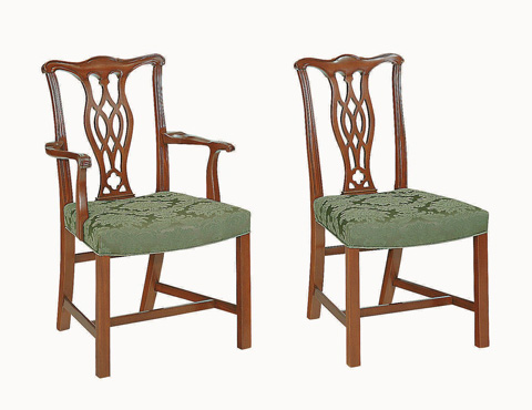 Hickory Chair - Carolina Chippendale Side Chair - 856-02