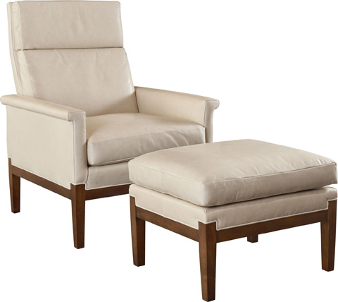 Hickory Chair - Anderson Ottoman - 8501-29