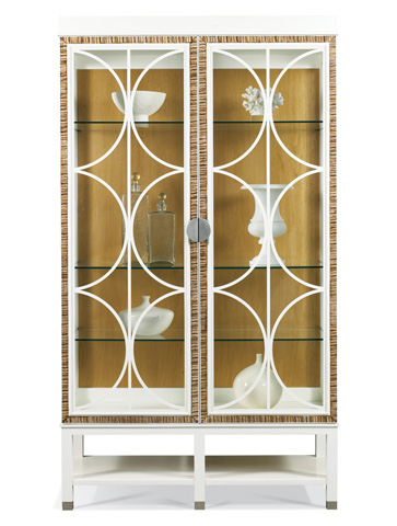 Hickory White - Bunching Lighted China Cabinet - 650-43