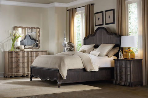 Hooker Furniture - Corsica Dark King Panel Bed - 5280-90266