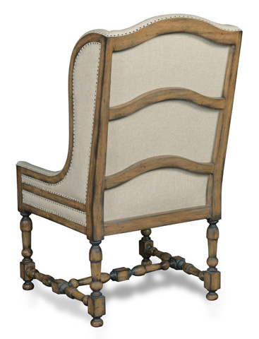 Hooker Furniture - Davalle Chateau Linen Arm Dining Chair - 300-350088