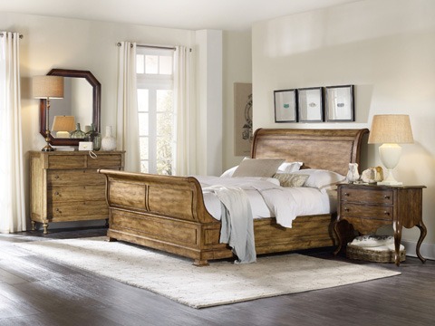 Hooker Furniture - Archivist King Sleigh Bed - 5447-90466-TOFFEE