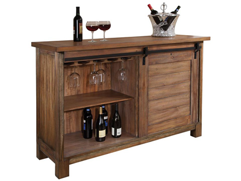 Howard Miller Clock Co. - Homestead Wine and Bar Cabinet - 695-144