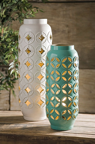 IMAX Worldwide Home - Calvinia Cutwork Ceramic Lamp - 18186