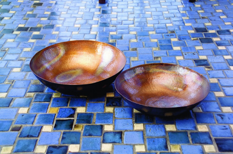 IMAX Worldwide Home - Copper-Plated Bowls - Set of 2 - 60009-2