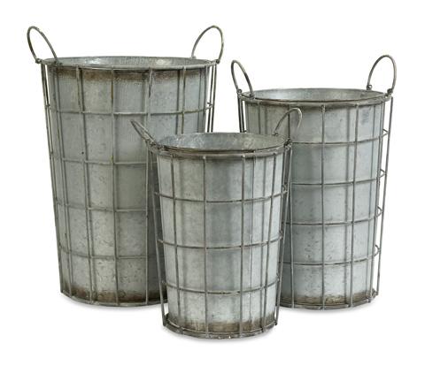 IMAX Worldwide Home - Chandler Metal Flower Vases - Set of 3 - 74217-3