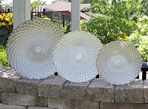 IMAX Worldwide Home - Cucine Glass Platters - Set of 3 - 83152-3
