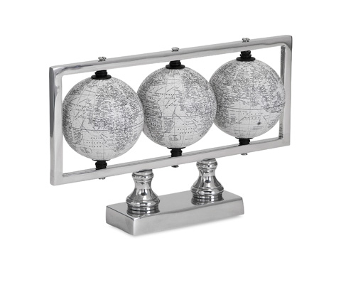 IMAX Worldwide Home - Gomez White Globes - 89435