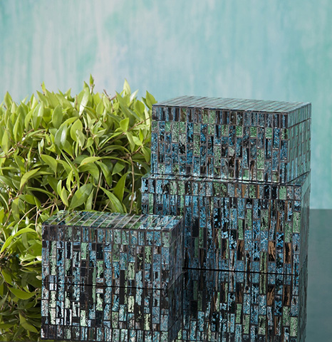 IMAX Worldwide Home - Aramis Mosaic Boxes - Set of 3 - 96114-3