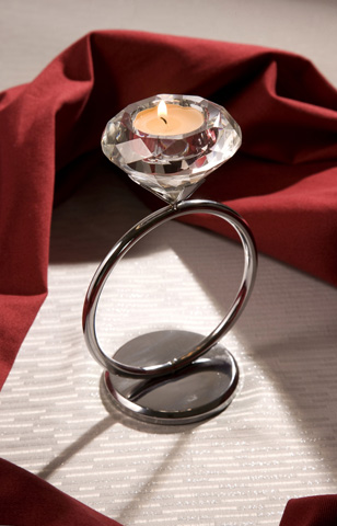 IMAX Worldwide Home - Diamond Solitaire Votive Candleholder - 9600