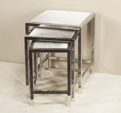 Interlude Home - Moro Hide Nesting Tables - 129027