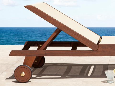 Jensen Leisure Furniture - Topaz Natural Sling Chaise - 6500N