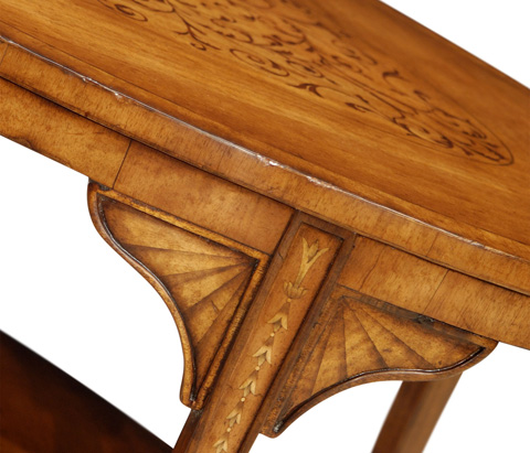 Jonathan Charles - Oval Marquetry Coffee Table - 492826
