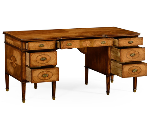 Jonathan Charles - Sheraton Pedestal Desk - 492221
