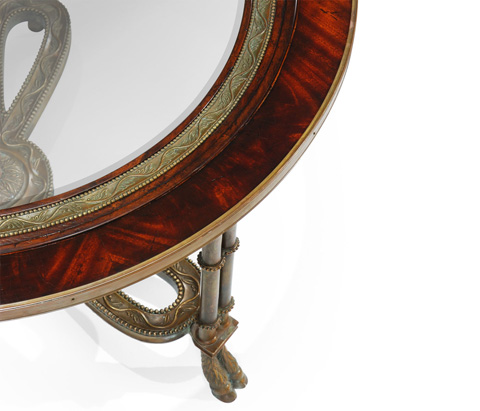 Jonathan Charles - Napoleon III Coffee Table with Brass Base - 492649