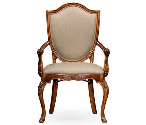 Jonathan Charles - Upholstered Shield Back Arm Chair - 492691