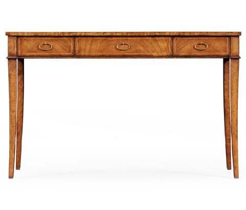Jonathan Charles - Crotch Walnut Narrow Side Table - 493789