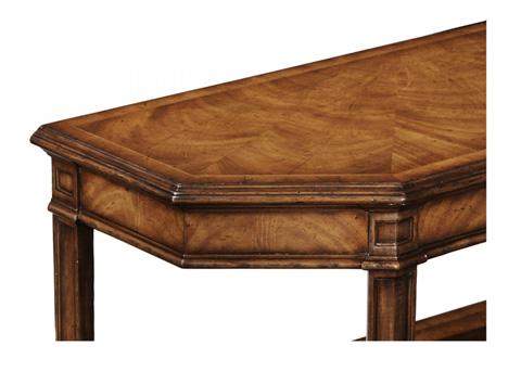 Jonathan Charles - Walnut Canted Console - 493937