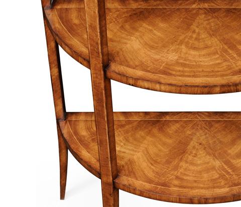 Jonathan Charles - Biedermeier Style Walnut Five-Tier Etagere - 494016