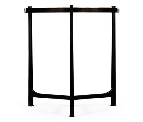 Jonathan Charles - Eglomise and Bronze Iron Lamp Table - 494140-B