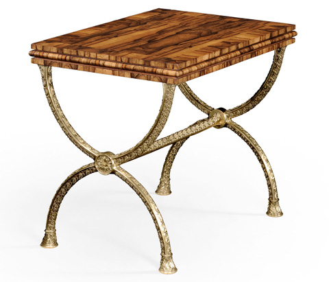 Jonathan Charles - Argentinian Walnut Rectangular Side Table - 494229