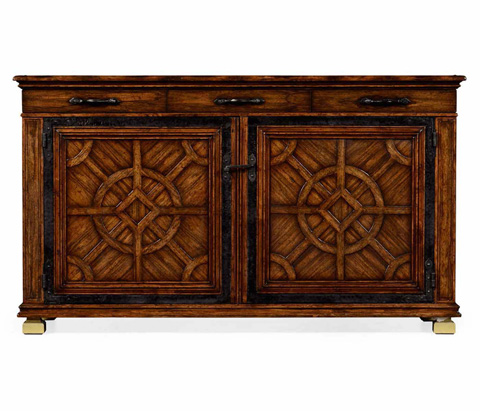 Jonathan Charles - Parquetry Sideboard with Distressed Finish - 494389
