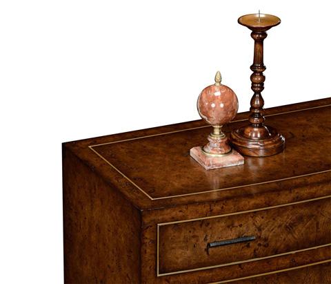 Jonathan Charles - Burl Oak Chest Four Drawers - 494495