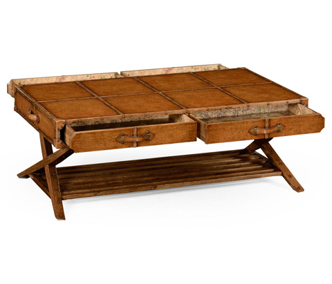 Jonathan Charles - Travel Trunk Style Coffee Table - 494634