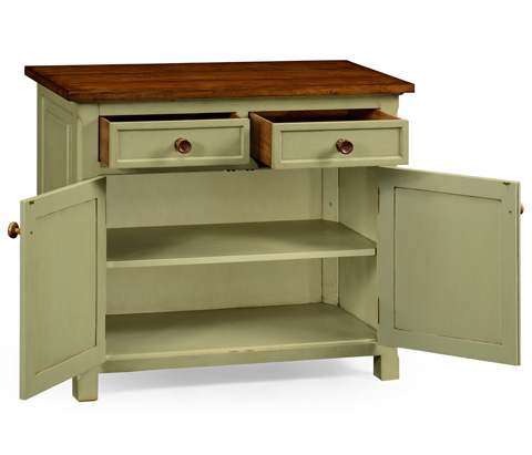 Jonathan Charles - Gustavian Style Two Door Cupboard with Drawers - 494905
