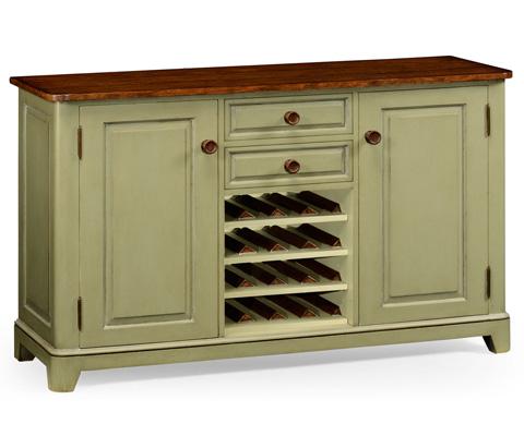 Jonathan Charles - Gustavian Style Sideboard with Wine Rack - 494910