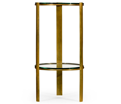 Jonathan Charles - Brass Round Lamp Table - 494976