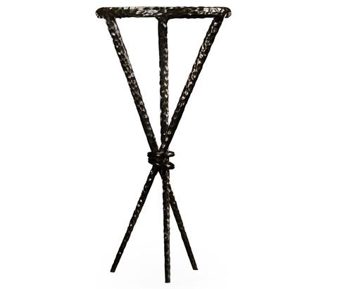 Jonathan Charles - Bronze Hammered Iron Circular Wine Table - 495030-BRO