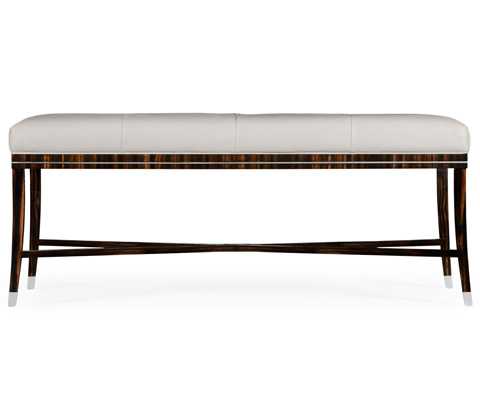 Jonathan Charles - Soho Bench with White Leather - 495188