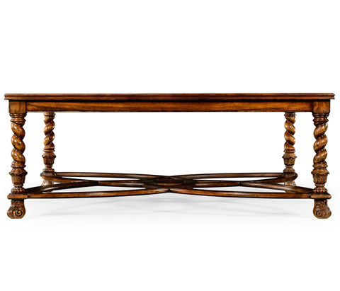 Jonathan Charles - Square Oyster and Églomisé Coffee Table - 492225