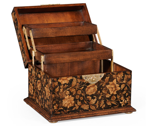 Jonathan Charles - Chinoiserie Lidded Jewellery Box - 493987