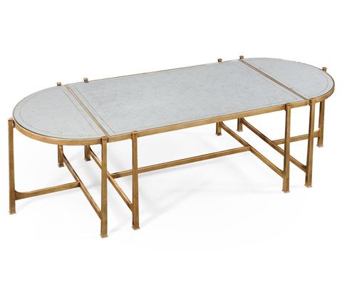 Jonathan Charles - Gilded Iron Bunching Tables - 494148-G