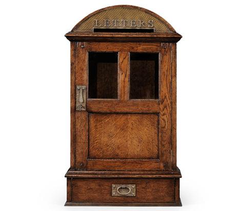 Jonathan Charles - Dark Oak Letter Box With Lock - 494290
