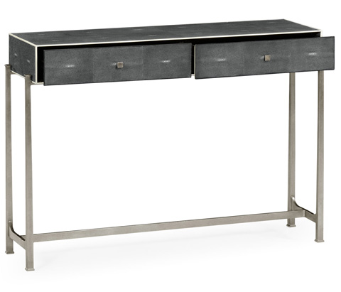 Jonathan Charles - Console Table With Silver Base - 494325-S
