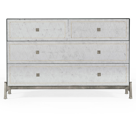 Jonathan Charles - Silver Iron Large Chest Of Drawers - 494381-S
