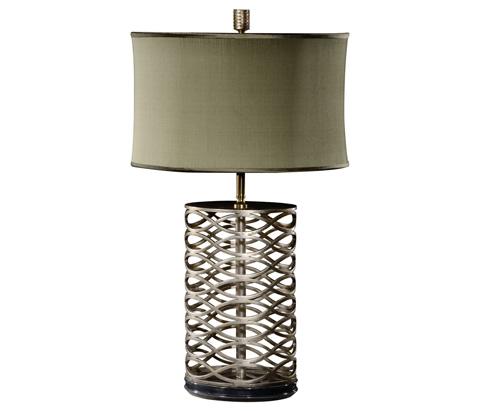 Jonathan Charles - Silver Interlaced Iron Table Lamp - 494966-S