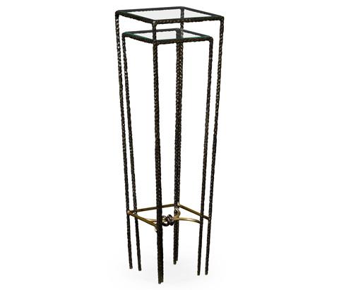 Jonathan Charles - Hammered Nesting Pedestal Tables - 495029-BRO