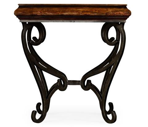 Jonathan Charles - Rustic Walnut Square Side Table - 495178-RWL