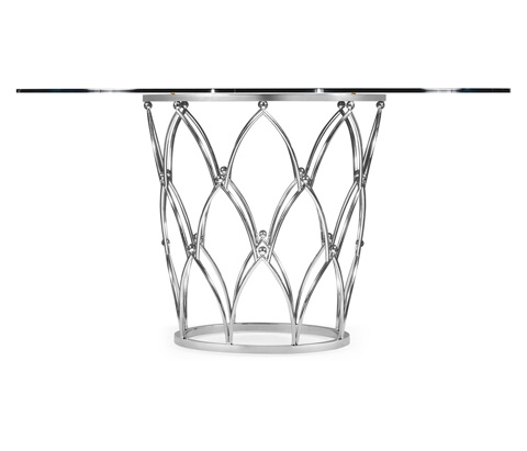 Jonathan Charles - Feather Inlay Glass Top Centre Table - 495346