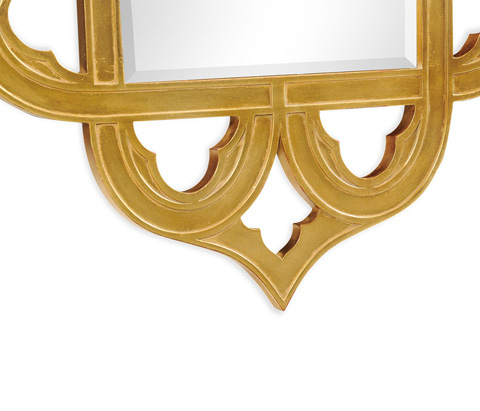 Jonathan Charles - Gilded Gold-Leaf Mirror - 495350-GIL
