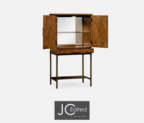 Jonathan Charles - Country Walnut Bar Cabinet - 491003-CFW