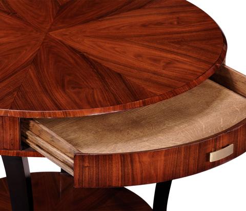 Jonathan Charles - Art Deco Round Side Table - 494000-SAS-BRS