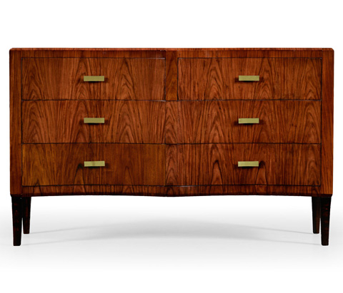 Jonathan Charles - Art Deco Double Concave Chest Of Drawers - 494350-SAH-BRS