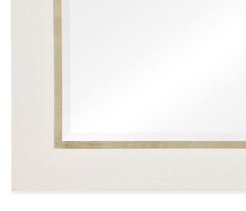 Jonathan Charles - Great White Faux Croc Mirror - 495419-WHT